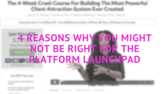 4 Reasons Why You Might NOT Be Right For The PLATFORM Launchpad-2